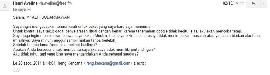 Email Bahwa Kiriman sudah diterima dengan baik