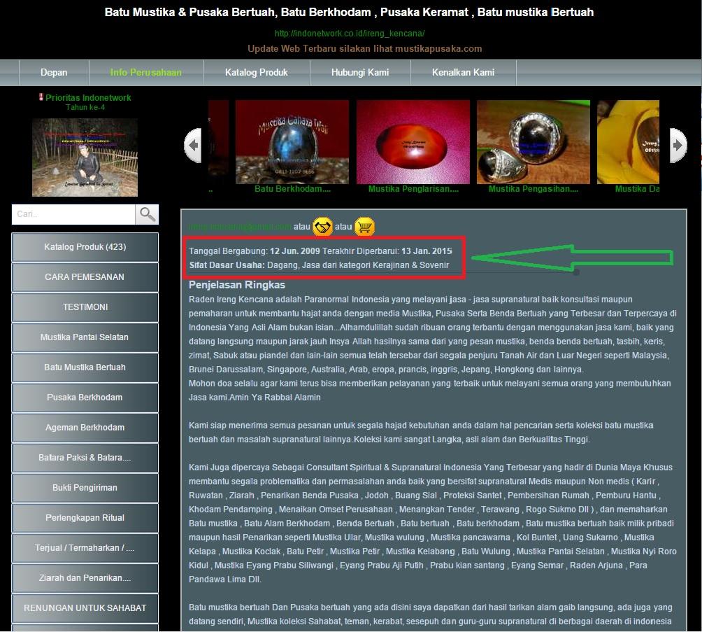 Memulai Online Sejak juni 2009